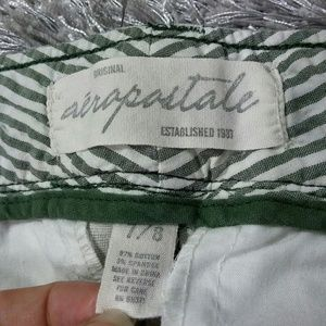 Aeropostale Shorts - Offwhite & Green Shorts